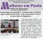 Capa do Boletim Mulheres Em Pauta nº 86 (SPM-PR, edição especial agosto/2012)