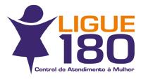 Logomarca do serviço Ligue 180 - Central de Atendimento à Mulher