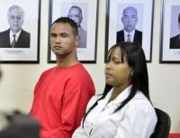 Bruno Souza e Dayanne Souza em julgamento (Foto: Pedro Vilela)