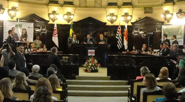 Assinatura do Termo de Acordo de Cooperação Técnica com o objetivo de implementar ações voltadas à ampliação do acesso à justiça e a serviços públicos para vítimas de violência (Foto: Géssica Brandino)