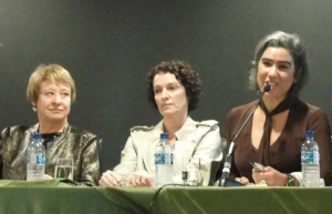 Defensora Andréa Abritta Garzon e promotora Elida de Freitas (Foto: GBrandino)