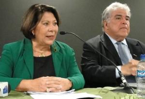 Ministra Eliana Calmon profere palestra ao lado do desembargador José Antonino Baía Borges