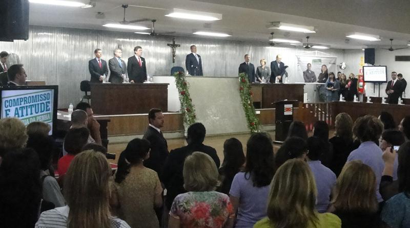 Lançamento da Campanha Compromisso e Atitude no Fórum de Santo André (Foto: Géssica Brandino)