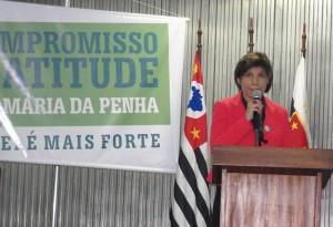 Para a juíza Teresa Cristina dos Santos, a Campanha dará visibilidade para os projetos de combate a violência doméstica desenvolvidos em Santo André (Foto: Géssica Brandino)