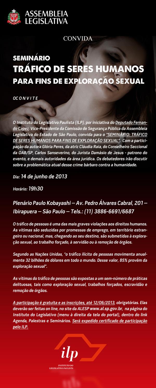 Cartaz Evento Tráfico de Pessoas ALSP