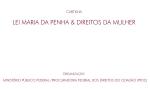 Capa Cartilha Lei Maria da Penha e os Direitos da Mulher (MPF/PFDC, 2011)
