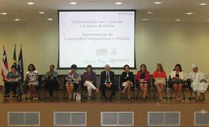Autoridades do judiciário e poder executivo se reúnem para apresentação da Campanha Compromisso e Atitude na Bahia (Fotos: Géssica Brandino)