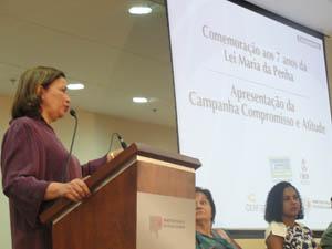 Promotora Márcia Teixeira destaca avanços e desafios na implementação da Lei no estado