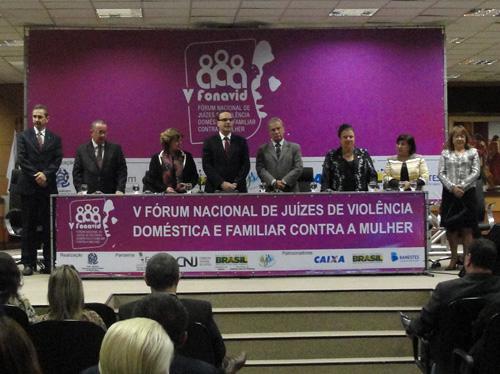 Solenidade de abertura do V Fórum Nacional de Juízes de Violência Doméstica e Familiar contra a Mulher (Foto: Débora Prado)