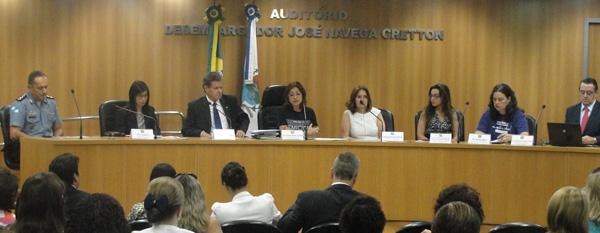 workshop femicidio no Rio de Janeiro, mesa de abertura