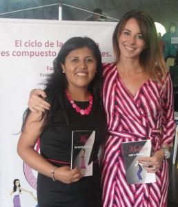 Carmen Rosa Hilari Poma, representante do Cami e a coordenadora do Gevid, promotora Silvia Chakian