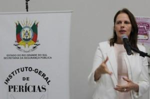 Andrea Brochier Machado, corregedora-geral do IGP/SSP e coordenadora das Salas Lilás no RS