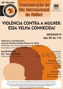 25ª Reunião do Fórum Permanente de Violência Doméstica, Familiar e de Gênero - RJ, 26/03/2014