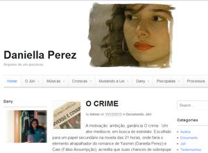 Blog criado pela autora Glória Perez sobre a morte da filha (Foto: Divulgação)