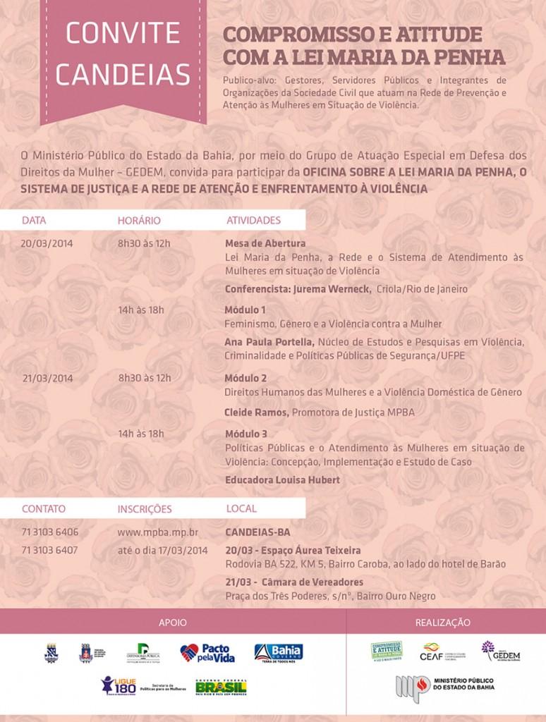 MPBA promove Oficina Compromisso e Atitude sobre a Lei Maria da Penha - BA, 20 e 21/03/2014