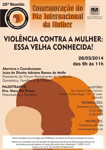 Seminário da EMERJ sobre violência contra a mulher (Foto: Divulgação)