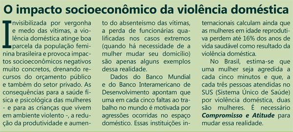Impacto socioeconômico da violência contra as mulheres - box do material para adesão de empresas