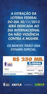Banner do Ligue 180 nos bilhetes lotéricos