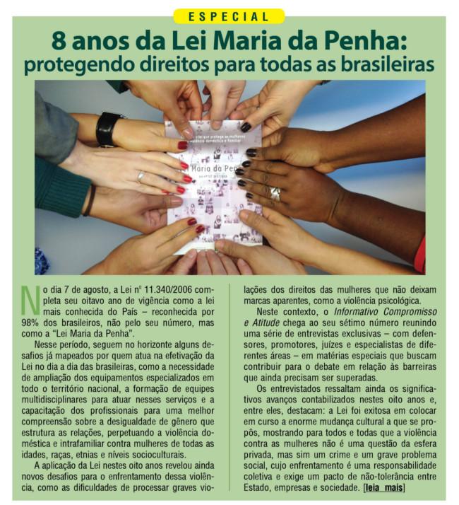 8 anos da Lei Maria da Penha: protegendo direitos para todas as brasileiras
