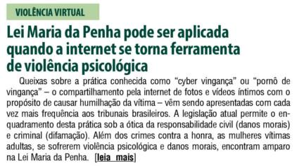 Lei Maria da Penha pode ser aplicada quando a internet se torna ferramenta de violência psicológica