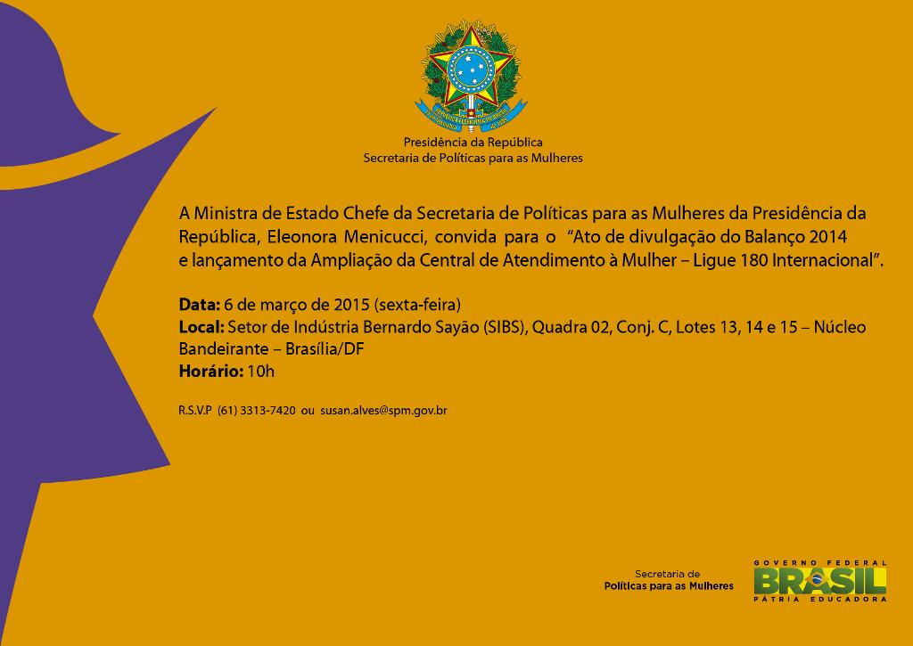 Convite Balanco 2014 e 180 Internacional
