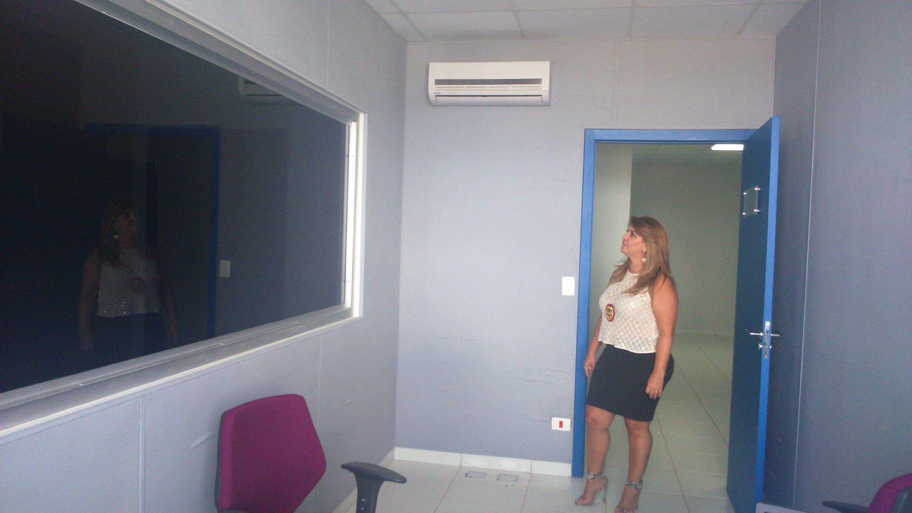 Sala de reconhecimento da DEAM na Casa da Mulher Brasileira de Campo Grande (MS)  (Foto: Luciana Araújo)