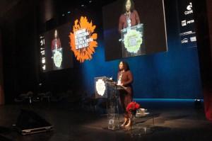 Palestra de Tracy Robinson no I Seminário Internacional Cultura de Violência contra as Mulheres (Foto: Tainah Fernandes)