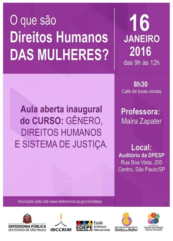 aula inaugural_curso genero_defensoria sp