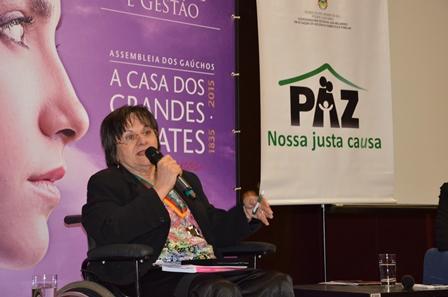 Maria da Penha encerrou a Semana da Justiça pela Paz em Casa na Capital (Fotos: Gustavo Monteiro Chagas)