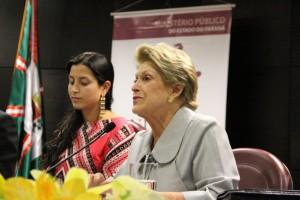 Silvia Pimentel, representante do Comitê Cedaw, destaca Recomendação para o acesso das mulheres à justiça (Foto: MPPR)