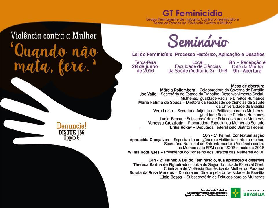 Seminario Feminicidio_Gov Brasilia