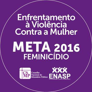 selo da meta da Enasp para 2016: redução dos feminicídios