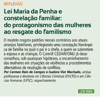 Lei Maria da Penha e constelação familiar: do protagonismo das mulheres ao resgate do familismo