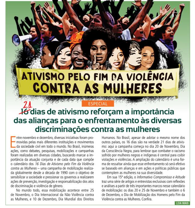 Campanhas de ativismo reforçam a importância das alianças para o enfrentamento às diversas discriminações contra as mulheres